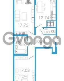 Продается квартира 2-ком 69.05 м² проспект Маршала Блюхера 5к А, метро Лесная