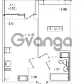 Продается квартира 1-ком 36 м² Европейский проспект 14, метро Улица Дыбенко
