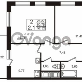 Продается квартира 2-ком 50.75 м² Европейский проспект 4к 2, метро Улица Дыбенко
