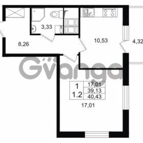 Продается квартира 1-ком 39.13 м² Европейский проспект 4к 2, метро Улица Дыбенко