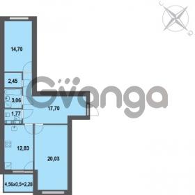 Продается квартира 2-ком 74.82 м² Зеленая улица 7, метро Озерки