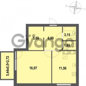 Продается квартира 1-ком 48.92 м² Зеленая улица 7, метро Озерки