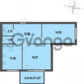 Продается квартира 2-ком 62.68 м² Зеленая улица 7, метро Озерки