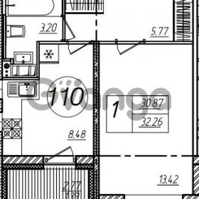 Продается квартира 1-ком 32 м² улица Крыленко 1, метро Улица Дыбенко