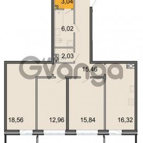 Продается квартира 3-ком 90.23 м² Новоорловская улица 101, метро Озерки