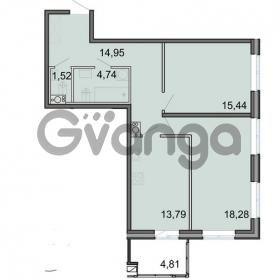 Продается квартира 2-ком 68.72 м² Новоорловская улица 101, метро Озерки