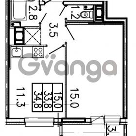 Продается квартира 1-ком 34.8 м² Шоссейная улица 1, метро Ладожская