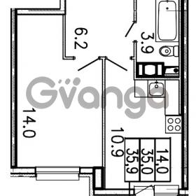 Продается квартира 1-ком 35.9 м² Шоссейная улица 1, метро Ладожская