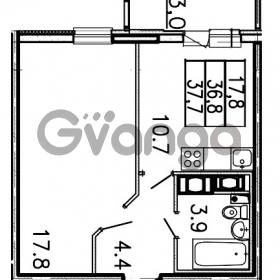 Продается квартира 1-ком 37.7 м² Шоссейная улица 1, метро Ладожская