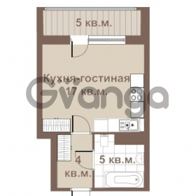 Продается квартира 1-ком 27 м² улица Крыленко 1, метро Улица Дыбенко