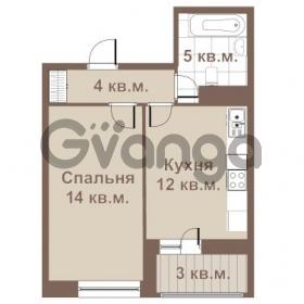 Продается квартира 1-ком 35 м² улица Крыленко 1, метро Улица Дыбенко