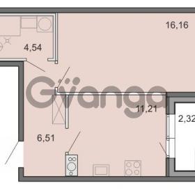 Продается квартира 1-ком 38.42 м² Новоорловская улица 101, метро Озерки