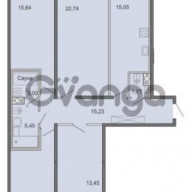 Продается квартира 4-ком 105.33 м² Новоорловская улица 101, метро Озерки