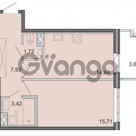 Продается квартира 1-ком 43.42 м² Новоорловская улица 101, метро Озерки