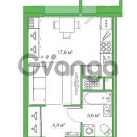 Продается квартира 1-ком 25.82 м² Комендантский проспект 58к 1, метро Комендантский проспект