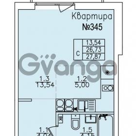 Продается квартира 1-ком 27.87 м² улица Николая Рубцова 22к 1, метро Ладожская