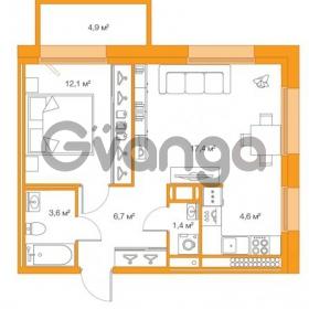 Продается квартира 1-ком 45.83 м² Комендантский проспект 58к 2, метро Комендантский проспект