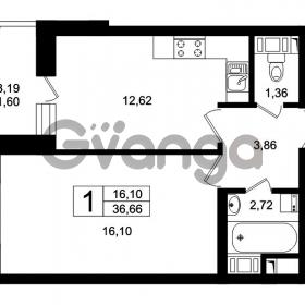 Продается квартира 1-ком 38 м² Оборонная улица 26, метро Девяткино