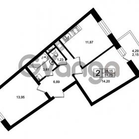 Продается квартира 2-ком 53 м² Оборонная улица 26, метро Девяткино