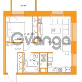 Продается квартира 1-ком 42.23 м² Комендантский проспект 58к 3, метро Комендантский проспект