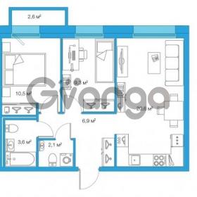 Продается квартира 2-ком 53.04 м² Комендантский проспект 58к 3, метро Комендантский проспект
