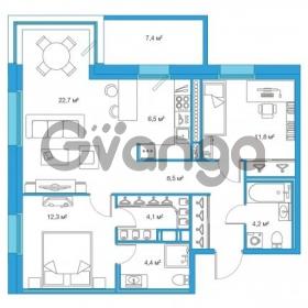 Продается квартира 2-ком 74.41 м² Комендантский проспект 58к 4, метро Комендантский проспект