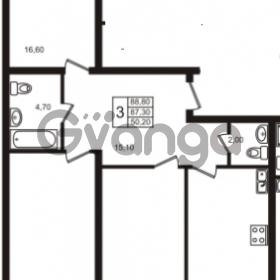 Продается квартира 3-ком 88 м² шоссе в Лаврики 83, метро Девяткино