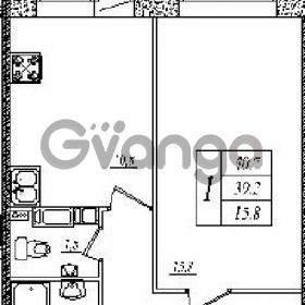 Продается квартира 1-ком 40 м² шоссе в Лаврики 83, метро Девяткино