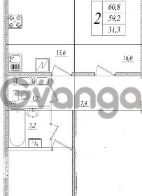 Продается квартира 2-ком 60 м² шоссе в Лаврики 83, метро Девяткино