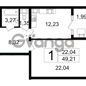 Продается квартира 1-ком 49 м² Новгородская улица 17, метро Чернышевская