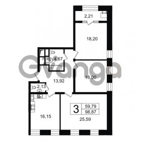Продается квартира 3-ком 98 м² Новгородская улица 17, метро Чернышевская