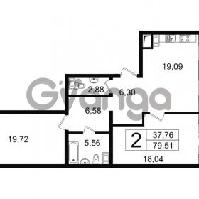 Продается квартира 2-ком 79 м² Новгородская улица 17, метро Чернышевская