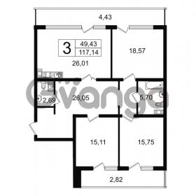 Продается квартира 3-ком 117 м² Новгородская улица 17, метро Чернышевская