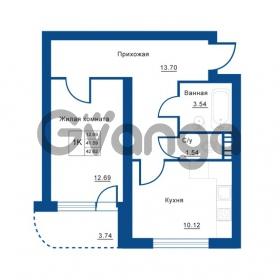 Продается квартира 1-ком 42 м² Советская улица 29, метро Ладожская