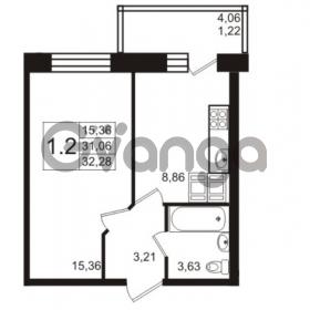 Продается квартира 1-ком 31 м² Новая улица 15, метро Ладожская