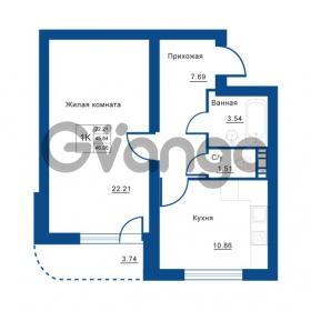 Продается квартира 1-ком 46 м² Советская улица 29, метро Ладожская