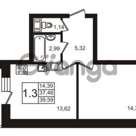 Продается квартира 1-ком 39 м² Новая улица 15, метро Ладожская