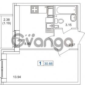 Продается квартира 1-ком 30.66 м² шоссе в Лаврики 74к 1, метро Девяткино