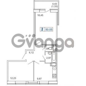 Продается квартира 1-ком 50 м² Новая улица 15, метро Ладожская