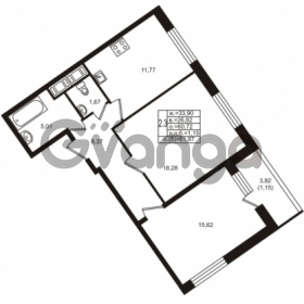 Продается квартира 2-ком 60.72 м² Воронцовский бульвар 1, метро Девяткино
