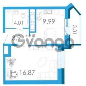 Продается квартира 1-ком 36.2 м² Школьная улица 6к А, метро Звездная
