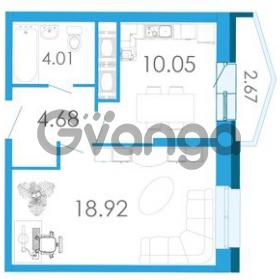 Продается квартира 1-ком 38.99 м² Школьная улица 6к А, метро Звездная