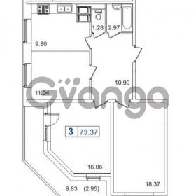 Продается квартира 3-ком 73 м² Пулковское шоссе 40к 2, метро Звездная