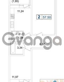 Продается квартира 2-ком 57 м² Пулковское шоссе 36к 4, метро Звездная