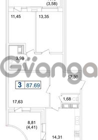 Продается квартира 3-ком 87 м² Пулковское шоссе 36к 4, метро Звездная