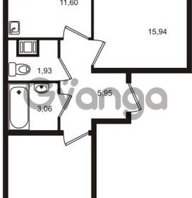 Продается квартира 2-ком 53 м² Немецкая улица 1, метро Улица Дыбенко