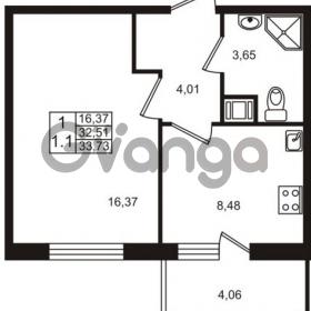 Продается квартира 1-ком 32 м² Немецкая улица 1, метро Улица Дыбенко