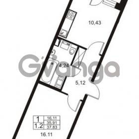 Продается квартира 1-ком 35 м² Немецкая улица 1, метро Улица Дыбенко