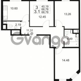 Продается квартира 3-ком 68 м² Европейский проспект 1, метро Улица Дыбенко