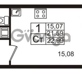 Продается квартира 1-ком 21 м² Немецкая улица 1, метро Улица Дыбенко